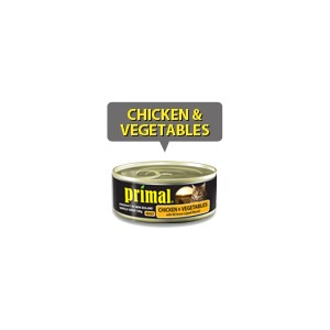 Primal Cat Chicken & Vegetables 100g