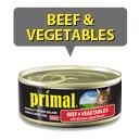 Primal Cat Beef & Vegetable 100g